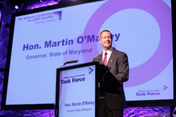 Maryland Governor Martin O'Malley addresses Creating Change.