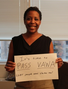 Task Force Public Policy Director Stacey Long joins the #PassVAWA2012 campaign.