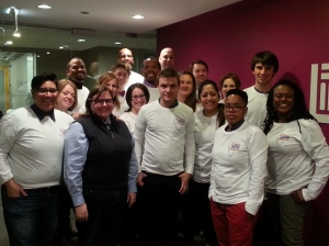 Task Force Director Sarah Reece with the Illinois Unites for Marriage coalition after a training.