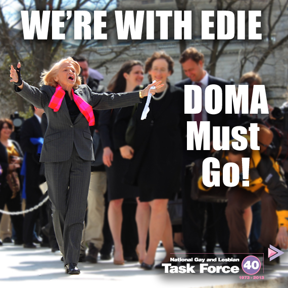Show your support for Edie Windsor by sharing this image on Facebook.