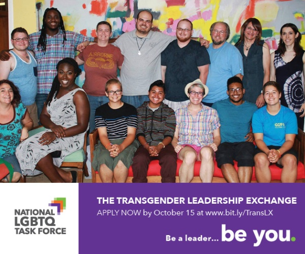 Apply Now to 2015 Transgender Leadership Exchange
