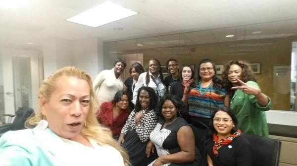 Bamby Salcedo selfie with trans women of color from the White House Briefing