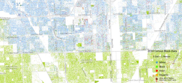 Detroit Map 2010 Census