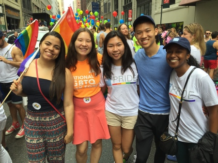 Communications Intern Meaghan Annett and Friends at NYC Pride