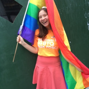 Communications Intern Meaghan Annett at NYC Pride