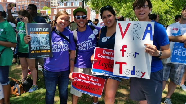 National LGBTQ Task Force Law Fellows at VRAforToday Rally